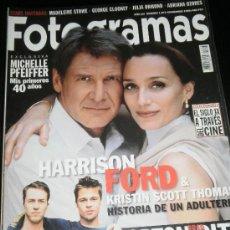 Cine: FOTOGRAMAS Nº. 1873 NOVIEMBRE 1999 - HARRISON FORD / KRISTIN SCOTT THOMAS / MICHELLE PFEIFFER. Lote 35313585
