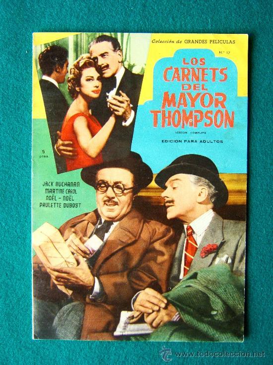 LOS CARNETS DEL MAYOR THOMPSON - PRESTON STURGES - JACK BUCHANAN - MARTINE CAROL - 1959 (Cine - Revistas - Colección grandes películas)