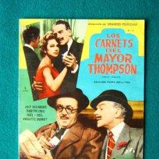 Cine: LOS CARNETS DEL MAYOR THOMPSON - PRESTON STURGES - JACK BUCHANAN - MARTINE CAROL - 1959 . Lote 35313641