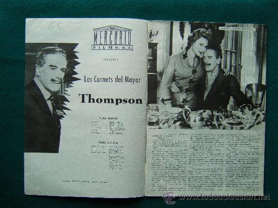 Cine: LOS CARNETS DEL MAYOR THOMPSON - PRESTON STURGES - JACK BUCHANAN - MARTINE CAROL - 1959 - Foto 2 - 35313641