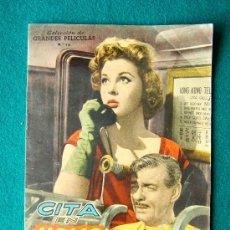 Cine: CITA EN HONG KONG - EDWARD DMYTRYK - CLARK GABLE - SUSAN HAYWARD - ARGUMENTO Y FOTOS - 1959. Lote 35313824