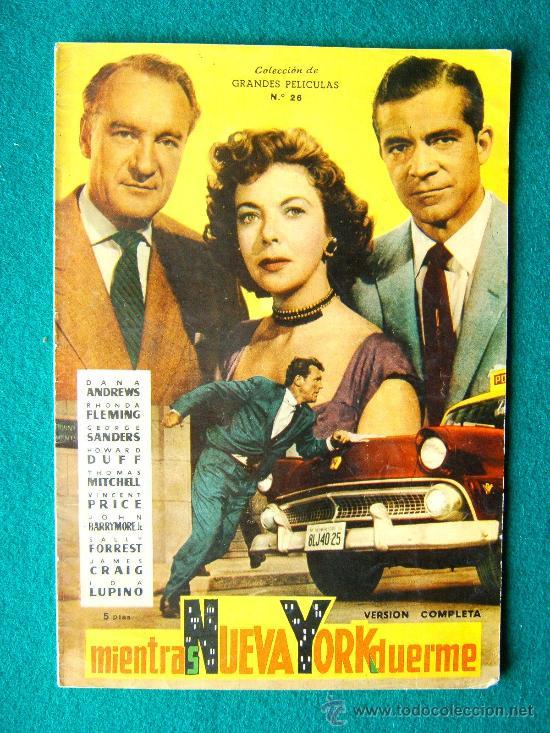 MIENTRAS NUEVA YORK DUERME - FRITZ LANG - DANA ANDREWS - VINCENT PRICE - ARGUMENTO Y FOTOS -1959 (Cine - Revistas - Colección grandes películas)