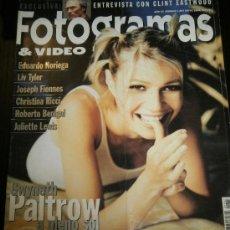 Cine: FOTOGRAMAS Nº. 1867 MAYO 1999 - GWYNETH PALTROW / PEDRO ALMODOVAR / CLINT EASTWOOD. Lote 35318958