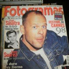 Cine: FOTOGRAMAS Nº. 1856 JUNIO 1998 - BRUCE WILLIS / FRANK SINATRA / EMMA SUAREZ. Lote 35322079