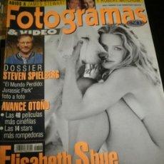 Cine: FOTOGRAMAS Nº. 1846 AGOSTO 1997 - ELISABETH SHUE / STEVEN SPIELBERG / JORDI MOLLA. Lote 35322216