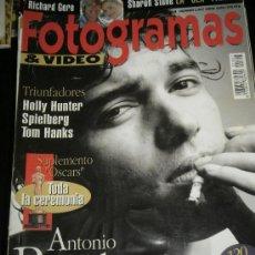 Cine: FOTOGRAMAS Nº. 1807 ABRIL 1994 - ANTONIO BANDERAS / RICHARD GERE / SHARON STONE / SPIELBERG. Lote 35328345