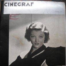 Cine: CINEGRAF - PORTADA MIRNA LOY - Nº 49 - MAYO DE 1936. Lote 35331335