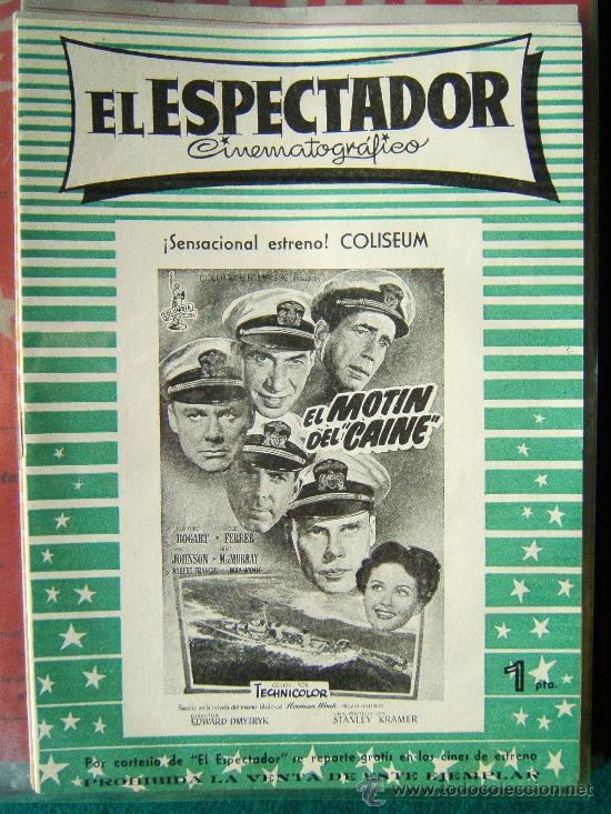 EL ESPECTADOR CINEMATOGRAFICO - REVISTA DE CINE Nº 1 - DIRECTOR MANUEL SOMACARRERA - 1954 - 1ª EDIC. (Cine - Revistas - Otros)
