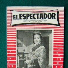 Cine: EL ESPECTADOR CINEMATOGRAFICO - REVISTA DE CINE Nº 3 - DIRECTOR MANUEL SOMACARRERA - 1954 - 1ª EDIC.. Lote 35331825
