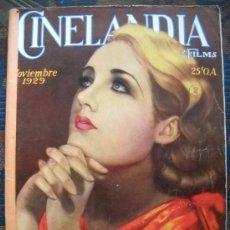 Cine: CINELANDIA - NOVIEMBRE 1929. Lote 35331863