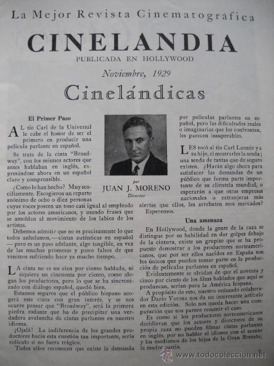 Cine: CINELANDIA - Noviembre 1929 - Foto 2 - 35331863