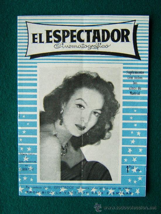 EL ESPECTADOR CINEMATOGRAFICO - REVISTA DE CINE Nº 4 - DIRECTOR MANUEL SOMACARRERA - 1954 - 1ª EDIC. (Cine - Revistas - Otros)