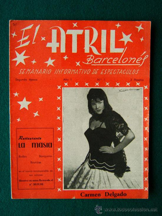 EL ATRIL BARCELONES - SEMANARIO INFORMATIVO DE ESPECTACULOS - ILUSTRADA - AÑO 1 - Nº 1 - CINE - 1961 (Cine - Revistas - Otros)