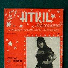 Cine: EL ATRIL BARCELONES - SEMANARIO INFORMATIVO DE ESPECTACULOS - ILUSTRADA - AÑO 1 - Nº 1 - CINE - 1961. Lote 35332354