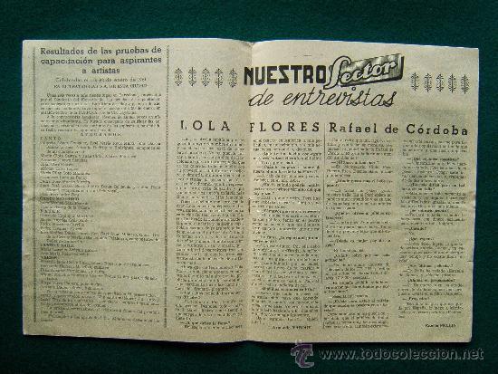 Cine: EL ATRIL BARCELONES - SEMANARIO INFORMATIVO DE ESPECTACULOS - ILUSTRADA - AÑO 1 - Nº 1 - CINE - 1961 - Foto 2 - 35332354