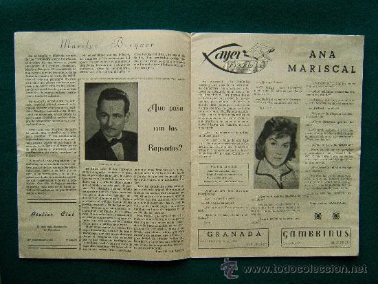 Cine: EL ATRIL BARCELONES - SEMANARIO INFORMATIVO DE ESPECTACULOS - ILUSTRADA - AÑO 1 - Nº 1 - CINE - 1961 - Foto 3 - 35332354