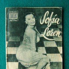 Cine: SOFIA LOREN - Nº 3 - COLECCION IDOLOS DEL CINE - VIDA, TRAYECTORIA ARTISTICA CON 30 FOTOS - 1958 . Lote 35342870