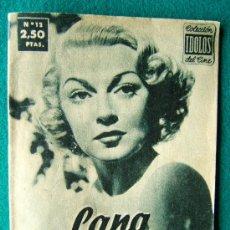 Cine: LA TURNER - Nº 12 - COLECCION IDOLOS DEL CINE - VIDA Y TRAYECTORIA ARTISTICA - 30 FOTOS - 1958 . Lote 35343137