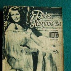 Cine: RITA HAYWORTH - Nº 26 - COLECCION IDOLOS DEL CINE - VIDA Y TRAYECTORIA ARTISTICA - 30 FOTOS - 1958. Lote 35343662