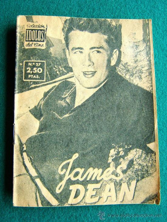 JAMES DEAN - Nº 27 - COLECCION IDOLOS DEL CINE - VIDA Y TRAYECTORIA ARTISTICA - 30 FOTOS - 1958 (Cine - Revistas - Colección ídolos del cine)