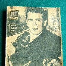 Cine: JAMES DEAN - Nº 27 - COLECCION IDOLOS DEL CINE - VIDA Y TRAYECTORIA ARTISTICA - 30 FOTOS - 1958. Lote 35343724