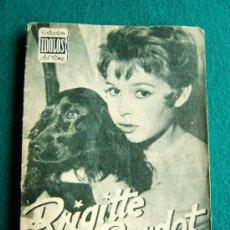 Cine: BRIGITTE BARDOT - Nº 34 - COLECCION IDOLOS DEL CINE - VIDA Y TRAYECTORIA ARTISTICA - 30 FOTOS - 1958. Lote 35344096
