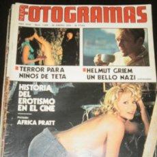 Cine: FOTOGRAMAS Nº 1424 ENERO 1976 - AFRICA PRATT / HELMUT GRIEM / LLUIS LLACH. Lote 35377269