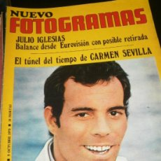 Cine: FOTOGRAMAS Nº 1147 OCTUBRE 1970 - JULIO IGLESIAS / CARMEN SEVILLA / POSTER BRITT EKLAND. Lote 35380923