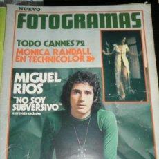 Cine: FOTOGRAMAS Nº. 1232 - MAYO 1972 - MIGUEL RIOS / JUAN LUIS GALIARDO / MONICA RANDALL / LIZA MINNELLI. Lote 35406898