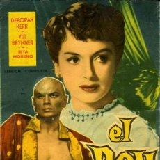 Cine: EL REY Y YO. MANDOLINA, 1959. ILUSTRADO. COL. GRANDES PELICULAS, Nº 20. Lote 35425273