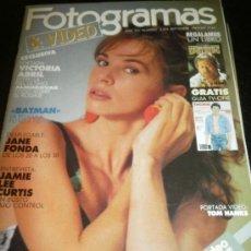 Cine: FOTOGRAMAS Nº. 1755 SEPTEMBRE 1989 - VICTORIA ABRIL / BATMAN / JANE FONDA / JAMIE LEE CURTIS. Lote 35528639