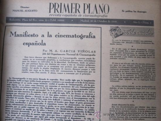 Cine: REVISTA CINE PRIMER PLANO - 24 PRIMEROS NUMEROS EN UN TOMO 20 OCT 1940 A 30 MARZO 1941 - Foto 5 - 35567502