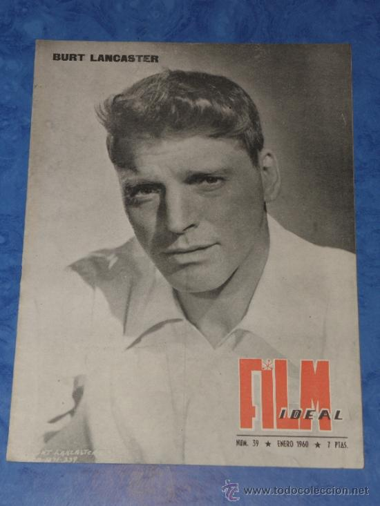 REVISTA FILM IDEAL Nº 39 ENERO 1960 PORTADA BURT LANCASTER (Cine - Revistas - Film Ideal)