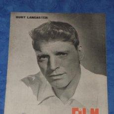 Cine: REVISTA FILM IDEAL Nº 39 ENERO 1960 PORTADA BURT LANCASTER. Lote 35624467