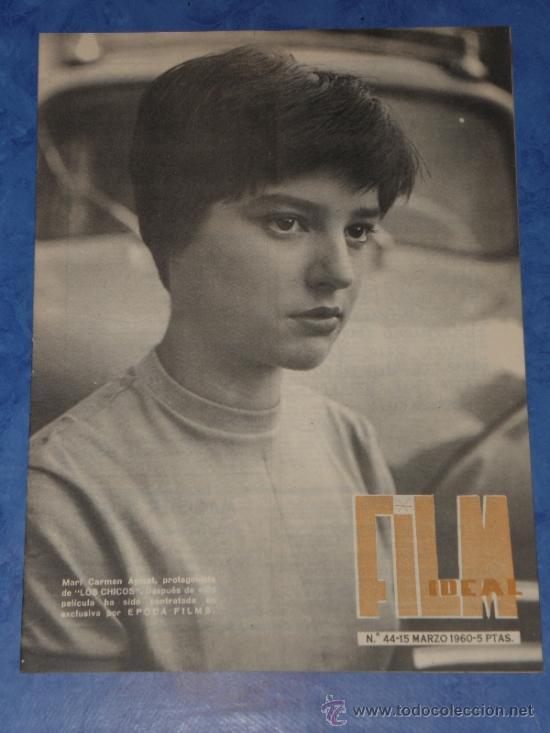 REVISTA FILM IDEAL Nº 44, 15 MARZ 1960 PORTADA MARICARMEN AYMAT EN LOS CHICOS. (Cine - Revistas - Film Ideal)