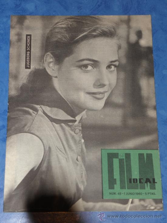 REVISTA FILM IDEAL Nº 49, 1 JUNIO 1960 PORTADA JUGERBERG SCHONER (Cine - Revistas - Film Ideal)