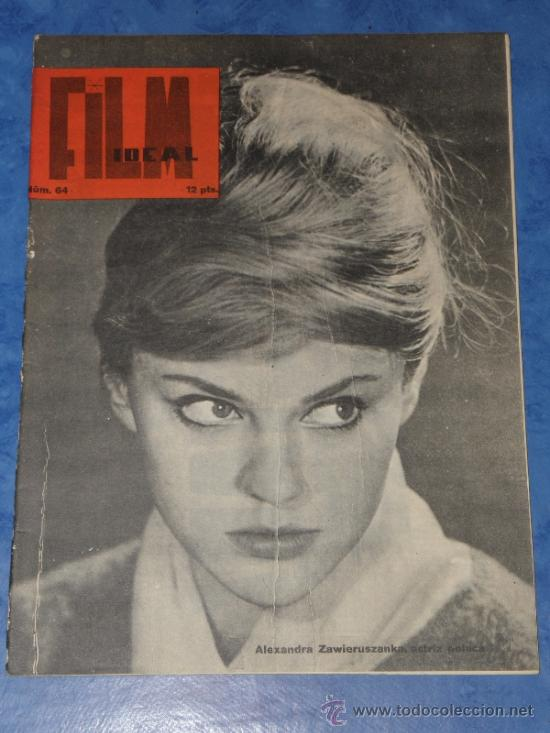 REVISTA FILM IDEAL Nº 64,FEBRERO 1961 PORTADA ALEXANDRA ZAWIERUSZANKA ACTRIZ POLACA (Cine - Revistas - Film Ideal)