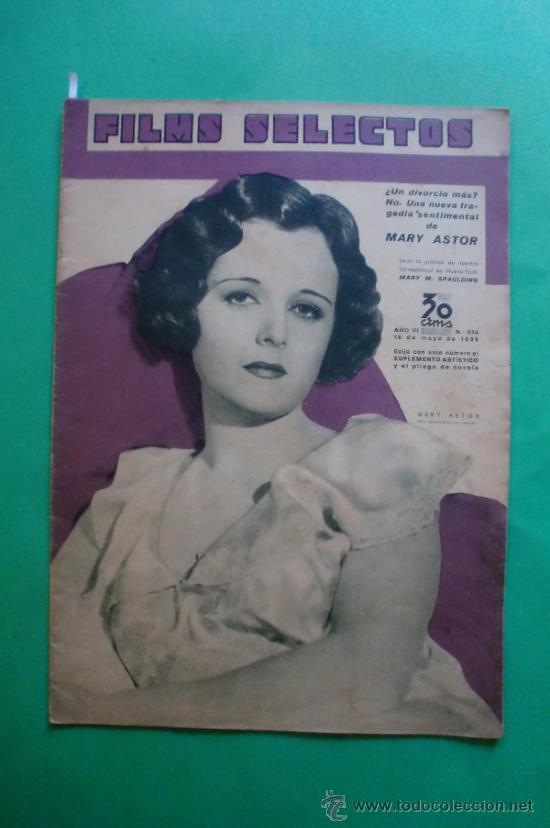 Nº 239 18/05/1935 MARY ASTOR - ELIMIO COHL A WALT DISNEY - ALICE FAYE - MIGUEL LIGERO - BING CROSBY (Cine - Revistas - Films selectos)