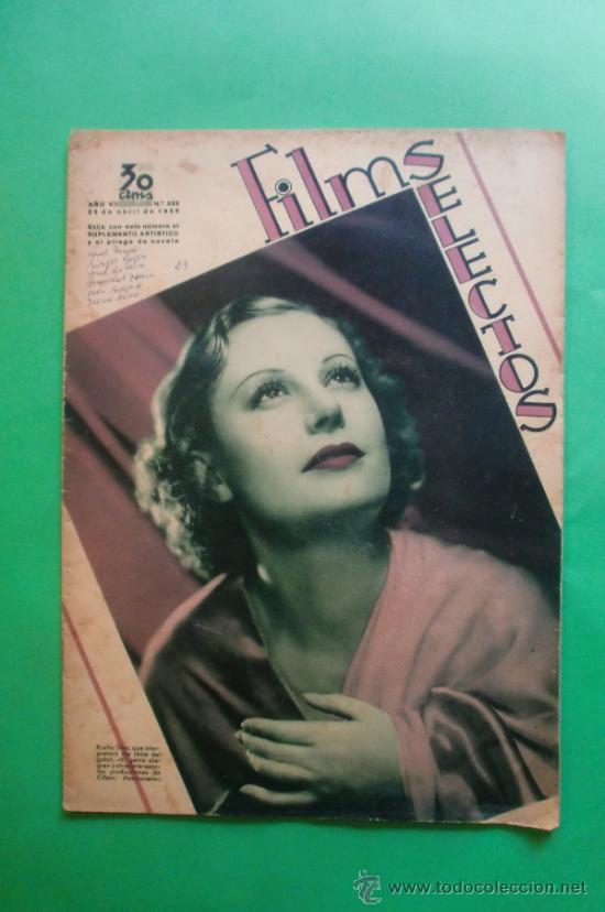 Nº 288 25/04/1936 ROSITA DIAZ - EDDIE CANTOR - HAROLD LLOYD - PAUL MUNI - GINGER ROGERS (Cine - Revistas - Films selectos)