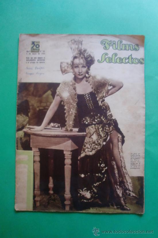 Nº 237 04/05/1935 MARLENE DIETRICH - WILLIAM POWELL - GARI COOPER - GINGER ROGERS (Cine - Revistas - Films selectos)