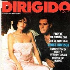 Cine: REVISTA DIRIGIDO POR Nº 89 POEPYE DEL COMIC AL CINE - ERNST LUBITSCH - VITTORIO TAVIANI . Lote 35915537