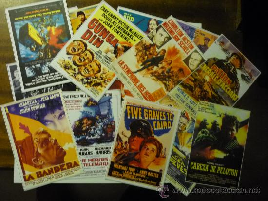 LOTE REPRODUCC.CARTELES DE CINE BELICO MUNDIALES - (Cine - Reproducciones de carteles, folletos...)