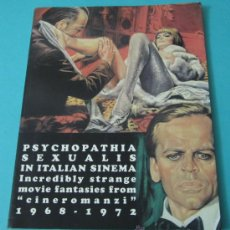 Cine: PSYCHOPATHIA SEXUALIS IN ITALIAN SINEMA. INCREDIBLY STRANGE MOVIE FANTASIES FROM CINEROMANZI 1968-72. Lote 35949368