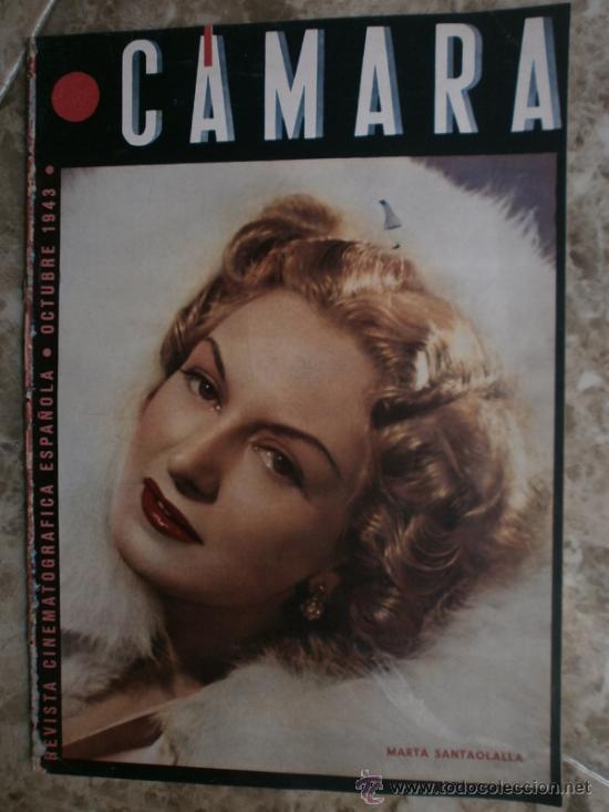 CAMARA Nº25.1943.MARTA SANTAOLALLA,G.GARBO,MARGO,S.SIDNEY,R.DURAN,C.DE VARGAS,J.BENNETT,H.LAMARR. (Cine - Revistas - Cámara)