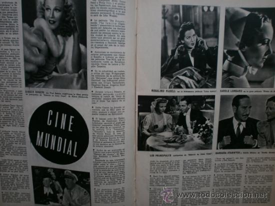 Cine: CAMARA Nº25.1943.MARTA SANTAOLALLA,G.GARBO,MARGO,S.SIDNEY,R.DURAN,C.DE VARGAS,J.BENNETT,H.LAMARR. - Foto 9 - 36237340