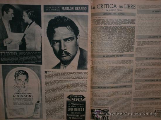 Cine: PRIMER PLANO Nº616. 1952.LOLA FLORES,R.WIDMARK,D.FINAYRE,M.LEGRAND,E.HEAD,J.COLLINS,M.BRANDO. - Foto 10 - 36235779