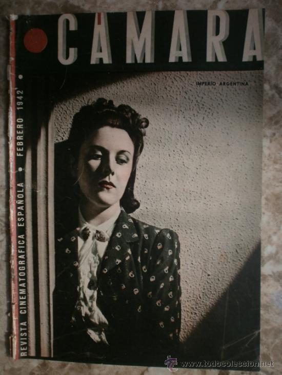 CAMARA Nº5.1942.IMPERIO ARGENTINA,G.GARBO,M.DIETRICH,C. LOMBARD, G. MONTGOMERY, G. ROGERS, G. COOPER (Cine - Revistas - Cámara)