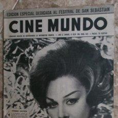 Cine: CINE MUNDO Nº482.1961.YVONNE BASTIEN,B.BARDOT,C.LYNLEY,M.BRANDO,K.MALDEN,S.JONES.. Lote 36253307