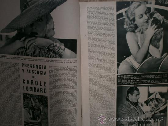 Cine: CAMARA Nº5.1942.IMPERIO ARGENTINA,G.GARBO,M.DIETRICH,C. LOMBARD, G. MONTGOMERY, G. ROGERS, G. COOPER - Foto 3 - 36250943