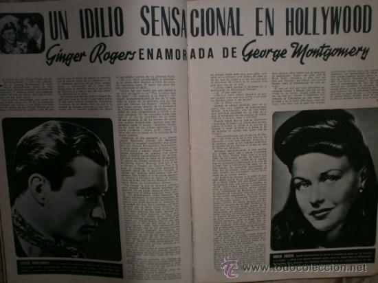 Cine: CAMARA Nº5.1942.IMPERIO ARGENTINA,G.GARBO,M.DIETRICH,C. LOMBARD, G. MONTGOMERY, G. ROGERS, G. COOPER - Foto 6 - 36250943